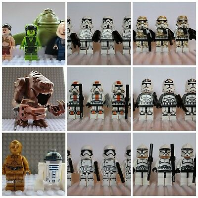 Star Wars Last Jedi Storm Clone Trooper Mini Figures Darth Vader,Han fit lego