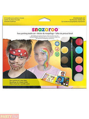 Snazaroo Face Paint Studio Set Painting Fancy Dress Childs Stage Make Up Theatre