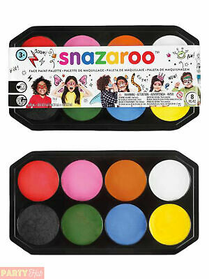Snazaroo 18ml Face Paint Palette Painting Fancy Dress Childs Stage Make Up