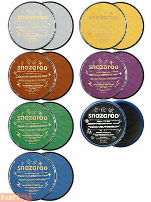 Snazaroo 18ml Metallic Face & Body Paint Fancy Dress Stage Make Up Theatre