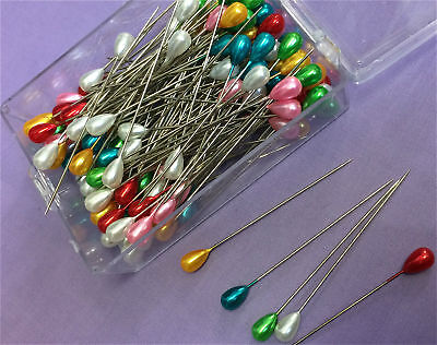 Extra Long Dressmaking Craft Pearl Headed Pins Three Boxes
