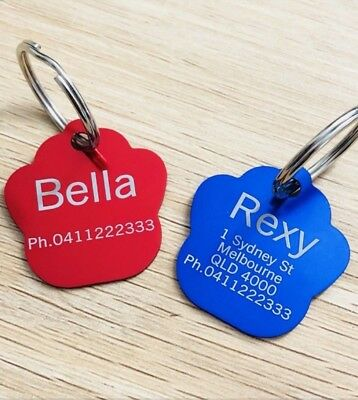 2 for $7.50!!!! PAW Shape Dog Tag, Cat Tag, Pet tag, FREE Laser Engraving & Post