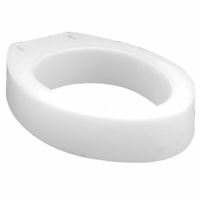 "Carex Elongated Toilet Seat Riser Elevator 3.5"" Height Bathroom Seat Extension"