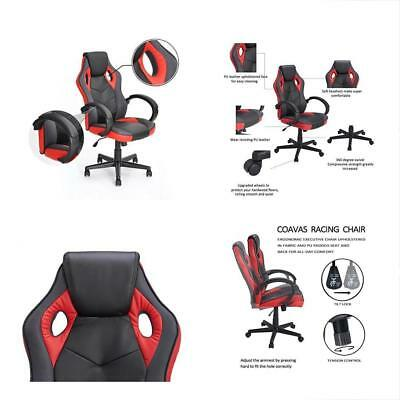 Computer Chair Gaming Racing Coavas Office High Back PU Leather Executive Swivel