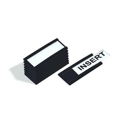 MasterVision Magnetic Data Card Holders 1 x 2 Inches Black Pack of 25 Holders
