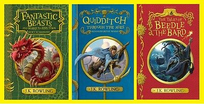 Fantastic Beasts, Beedle the Bard & Quidditch through the ages Three book pack