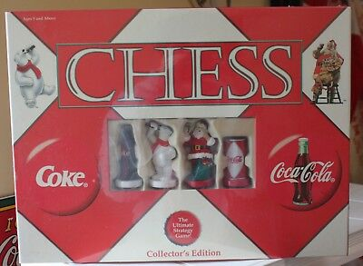 Vintage Coke Coca Cola Chess Set Game Collector Edition Sealed Never Used in Box