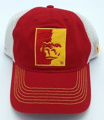 db2b6110f3ddc NCAA Pittsburgh State Gorillas Adidas Adult Half Mesh Adjustable Fit Cap Hat  NEW