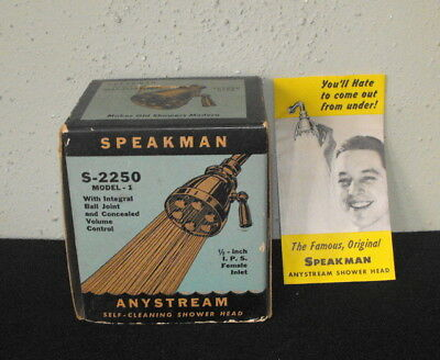 VTG Speakman S-2250 Model 1 Anystream Shower Head Box & Instructions ONLY