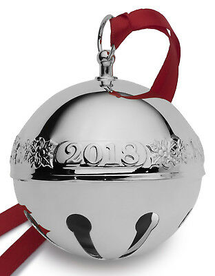 Wallace Annual Silver Plate Sleigh Bell Ornament 2018 NEW