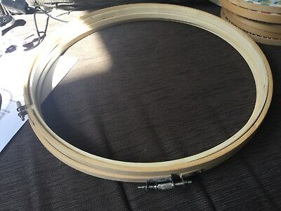 33cm diameter wooden embroidery hoop NWOT 3 available