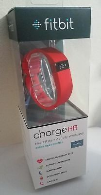 NEW!!! Fitbit Charge HR Wireless Activity Wristband - SMALL - Tangerine/Orange