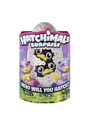 Hatchimals 6037097 Surprised Giravens Ei mit Zwillingen Neu Purple
