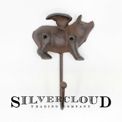 Pigs Fly Cast Iron Wall Hook - Decorated Wall Mounted Coat Hanger
