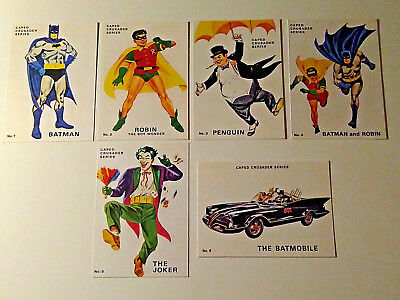 1960's  Batman, Postcards - Full Set Of 6, Walter Howarth Artwork !!! Superb !!