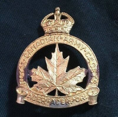 WWII ROYAL CANADIAN ARMY CADETS Canada RCAC cap badge WW2 SCULLY Canadian $