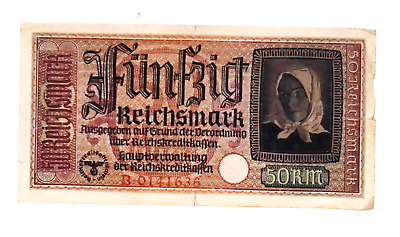 1940 Nazi Germany 50 Reichsmark banknote OCCUPIED TERRITORIES