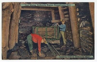 Coal Mining Anthracite Region Mine Shaft PA Vintage Pennsylvania Postcard