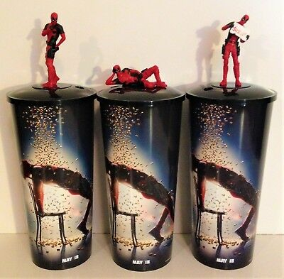 Marvel Comics: Deadpool 2 Movie Theater Exclusive Cup Topper Set #2
