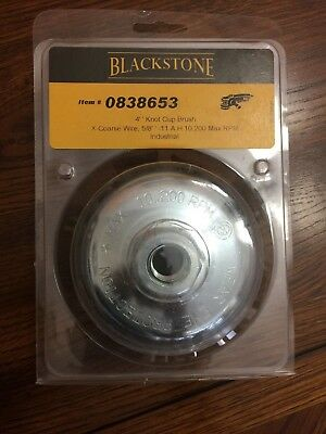 "BlackStone 4""Knot Cup Brush X-coarse Wire 5/8"