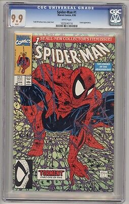 Spider-Man #1 (Aug 1990, Marvel) CGC 9.9 MINT = ONLY 84 ON THE CENSUS!
