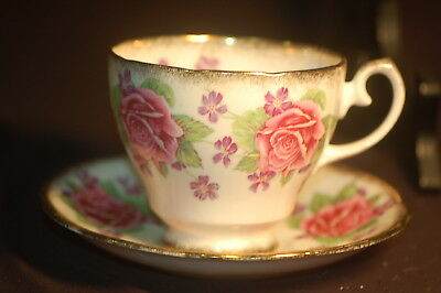 Gladstone Roses and Violets  Cup and Saucer