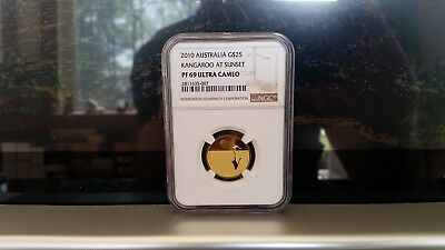 2010 Kangaroo At Sunset Gold $25 Proof Coin #802 Of 1000