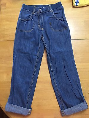 Hanna Andersson Kids Blue Jeans Size 130 Adjustable  Cuff