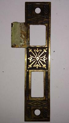 Antique/Vintage Brass Victorian Strike Plate Ornate             #A99