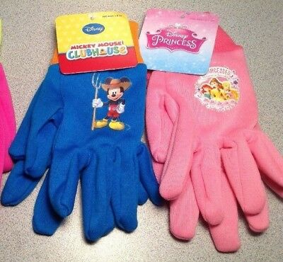 NWT Disney Kids Garden Gloves- Mickey Mouse Clubhouse OR Princesses