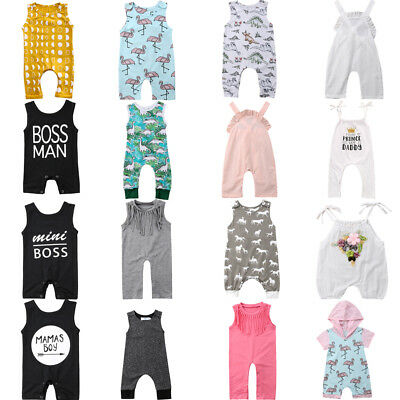 UK Toddler Infant Baby Boy Girl Romper Jumpsuit Playsuit Summer Clothes Outfits