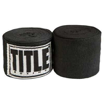 "Title Mexican Style 180"" Boxing Hand Wraps Black"