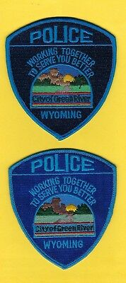 GREEN RIVER POLICE DEPARTMENT PATCH SET ~ WYOMING ~ A GREAT COLLECTOR's SET