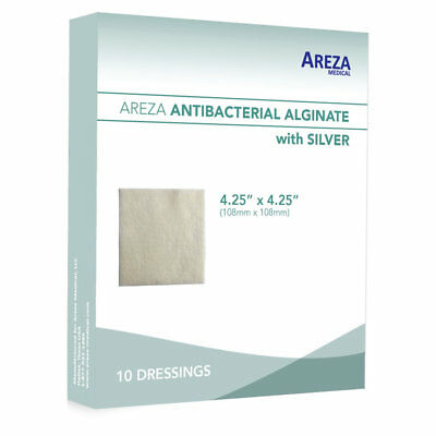 "Silver Alginate (Calcium Alg. with Ag) 4.25""x 4.25"" Box of 10 (5% Off>20 Boxes)"