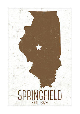 Springfield Illinois State Capital Poster - Matte Paper Print