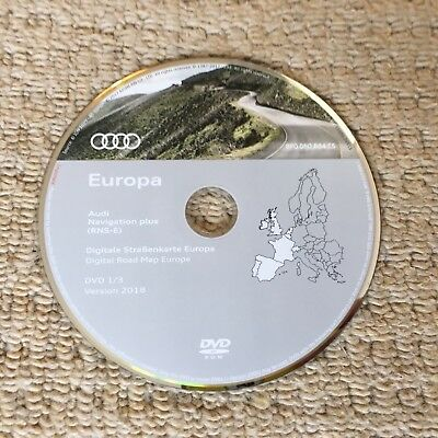 Audi Navigation Plus RNS-E 2018 Latest A3 A4 A6 TT R8 Update DVD Disc