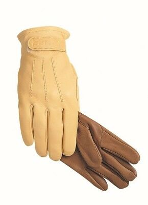 (11, Tan) - SSG Winter Lined Trail/Roper Riding Gloves. Free Delivery