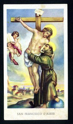 SANTINO - HOLY CARD- IMAGE PIEUSE - Heiligenbild  SAN FRANCESCO D'ASSISI