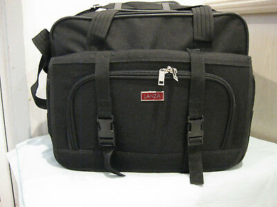 Lanza Quality Unisex Business or Cabin Onboard 'Modified' Overnight Bag Black