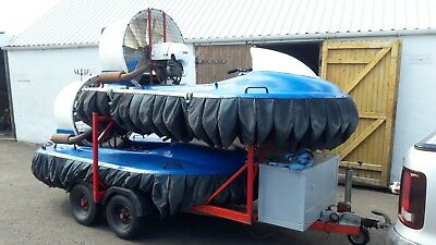 Pair of Eagle 447 90cm Gearbox Drive Hovercraft with Trailer and Radio Comms