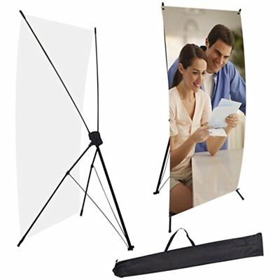 """Adjustable Telescopic Retractable X Type Banner Exhibition Stand Fit For 24""""x63"""""""