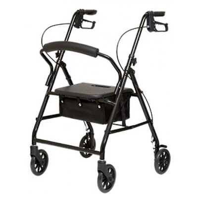 NEW Lightweight Aluminum ProBasics Rollator Foldable Walker With Wheels Black