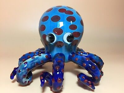Blue octopus smoking pipes tobacco pipe mix colors multi swirl twisted bongs