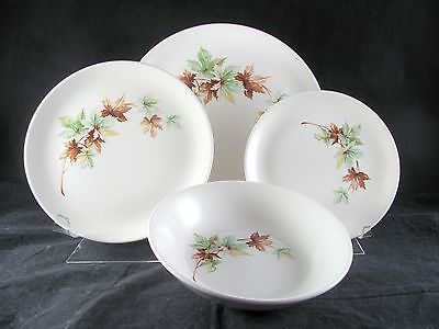 Salem Maple Leaf Dinnerware, 16 pc, Svc for 4, plate, bowl, 3 sets avail