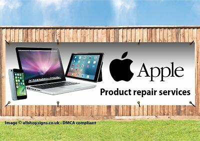 APPLE PRODUCT AND COMPUTER REPAIR SIGN BANNER SIGN PVC with Eyelets