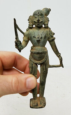 Antique Indian South East Asian Gandharan Bronze Figure Deity Hindu Buddhist