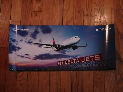 Fly Delta Jets - Boeing - Poster 13 X 29 - New -