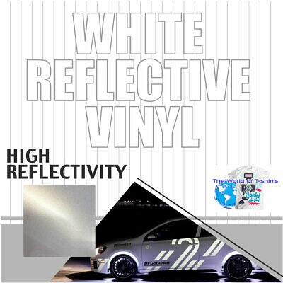 Reflective safety sign Vinyl Adhesive Cutter Plotter  WHITE 24""