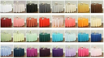 LinenTablecloth 132 in. Round Polyester Tablecloths, 33 Colors! Wedding Event
