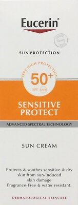 Eucerin Sensitive Protect SUN CREAM SPF50 Very High Protection 50ml   Dry Skin